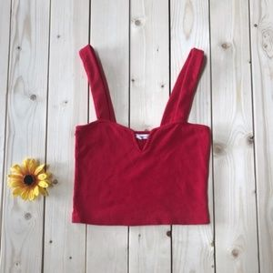 Lime Blue Red Crop Top NEW